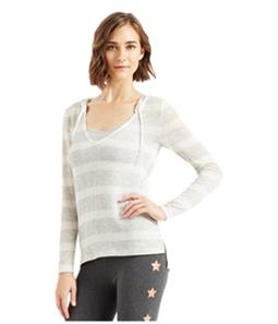 Aeropostale Womens Striped Hooded Sweater