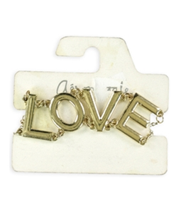 Aeropostale Womens LOVE Chain Charm Bracelet
