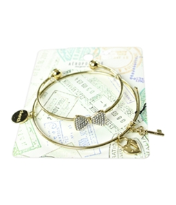 Aeropostale Womens 2-Pack Charm Bracelet