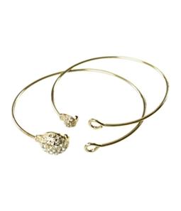 Aeropostale Womens 2 Pack Rhinestone Bracelet Bangles