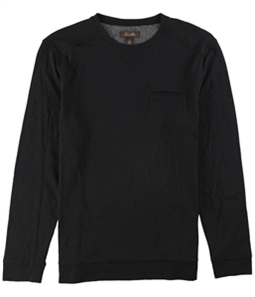 Tasso Elba Mens Faux-Suede Trim Basic T-Shirt