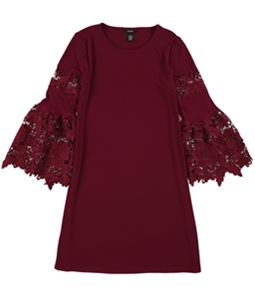 Alfani Womens Lace-Sleeve A-line Dress