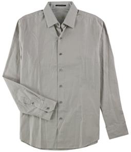 Tasso Elba Mens Supima Check Button Up Shirt