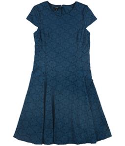 Alfani Womens Lace A-line Dress
