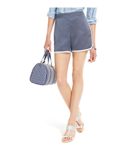Tommy Hilfiger Womens Pipe-Trim Polka Dotted Casual Walking Shorts