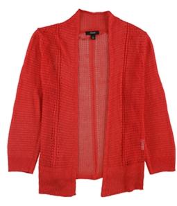 Alfani Womens Mixed Media Cardigan Sweater