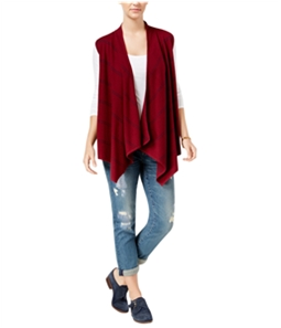 Tommy Hilfiger Womens Harper Draped Cardigan Sweater