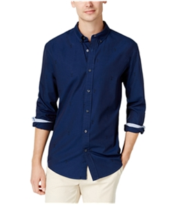 Tommy Hilfiger Mens Embroidered Martini Button Up Shirt