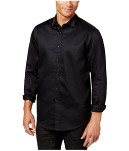 I-N-C Mens Embroidered Button Up Shirt