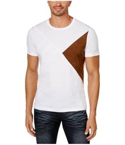 I-N-C Mens Faux-Suede Basic T-Shirt