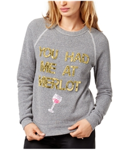Bow & Drape Womens You Had Me At Merlot Sweatshirt