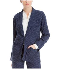 Max Studio London Womens Jacquard One Button Blazer Jacket