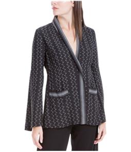 Max Studio London Womens Printed One Button Blazer Jacket
