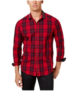 I-N-C Mens Beaded Button Up Shirt