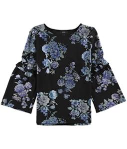 Alfani Womens Floral Knit Blouse