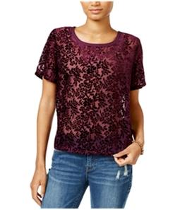 Lucky Brand Womens Velvet Pullover Blouse