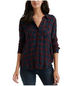 Lucky Brand Womens Plaid Button Up Shirt