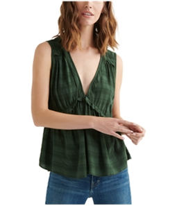 Lucky Brand Womens Romantic Ruffle Pullover Blouse