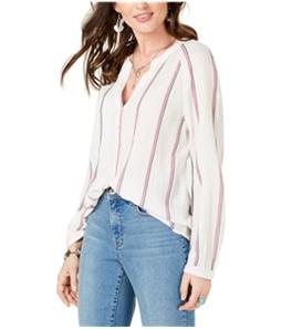 Lucky Brand Womens Striped V-Neck Henley Shirt