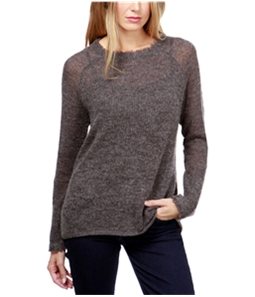 Lucky Brand Womens Frayed Pullover Sweater