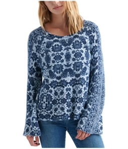 Lucky Brand Womens Damask Pullover Sweater