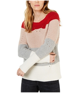 Lucky Brand Womens Pointelle Knit Sweater