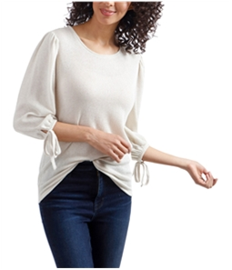 Lucky Brand Womens Tie-Sleeve Peasant Blouse