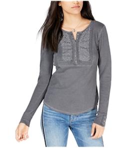 Lucky Brand Womens Novelty Bib Henley Shirt