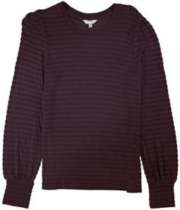Lucky Brand Womens Chenille Stripe Basic T-Shirt
