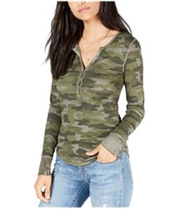 Lucky Brand Womens Thermal Henley Shirt