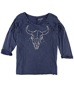 Lucky Brand Womens Heathered Graphic T-Shirt