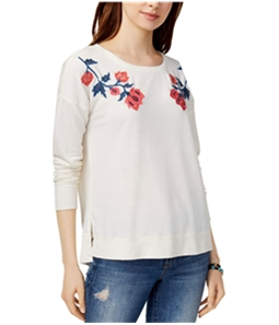Lucky Brand Womens Embroidered Sweatshirt
