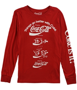 Lucky Brand Womens Coca Cola Language Graphic T-Shirt