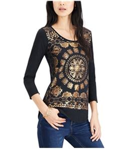 Lucky Brand Womens Medallion Graphic T-Shirt