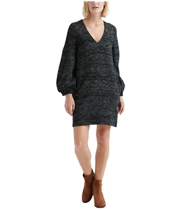 Lucky Brand Womens Knit Shift Sweater Dress