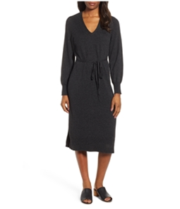 Lucky Brand Womens V-Neck Sweater Dress