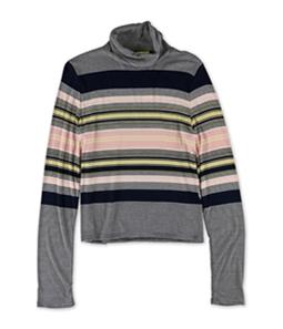 Aeropostale Womens Striped Turtleneck Pullover Sweater