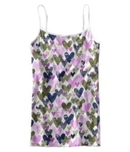 Aeropostale Womens Heart Print Cami Tank Top