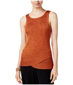 bar III Womens Metallic Knit Sweater