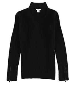 bar III Womens Choker-Neck Pullover Sweater