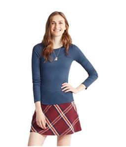 Aeropostale Womens Ribbed LS Basic T-Shirt