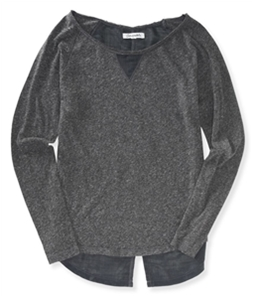 Aeropostale Womens Woven Back Soft Embellished T-Shirt