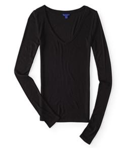 Aeropostale Womens Seriously Soft Ribbed Basic T-Shirt