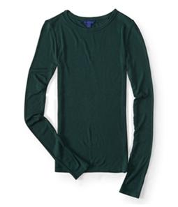 Aeropostale Womens Slim Fitting Ribbed Graphic T-Shirt