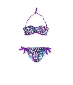 Becca Womens Printed Push Up 2 Piece Bikini