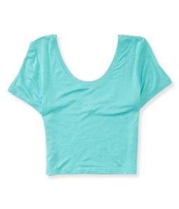 Aeropostale Womens Scoop-Back Bodycon Basic T-Shirt