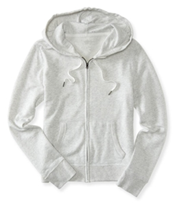 Aeropostale Womens Solid Fleece Hoodie Sweatshirt