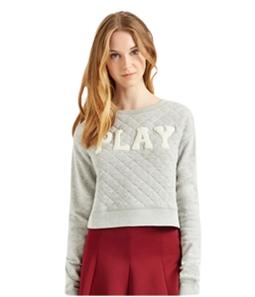 Aeropostale Womens PLAY Quilted Sweatshirt