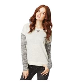 Aeropostale Womens Wide Neck Pullover Sweatshirt