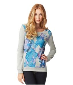 Aeropostale Womens Floral Ls Sweatshirt